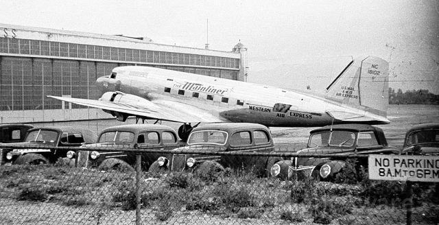 Douglas DC-3 (NC18102) - Western Air Express DC-3