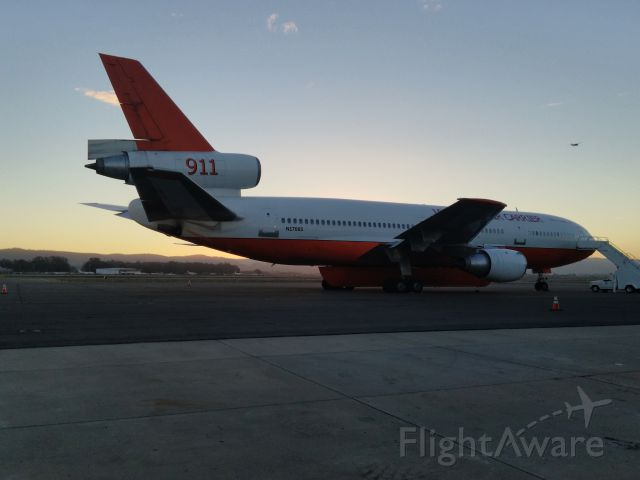McDonnell Douglas DC-10 (N17085) - Tanker 911 sits at Santa Maria waiting for her next assignment.