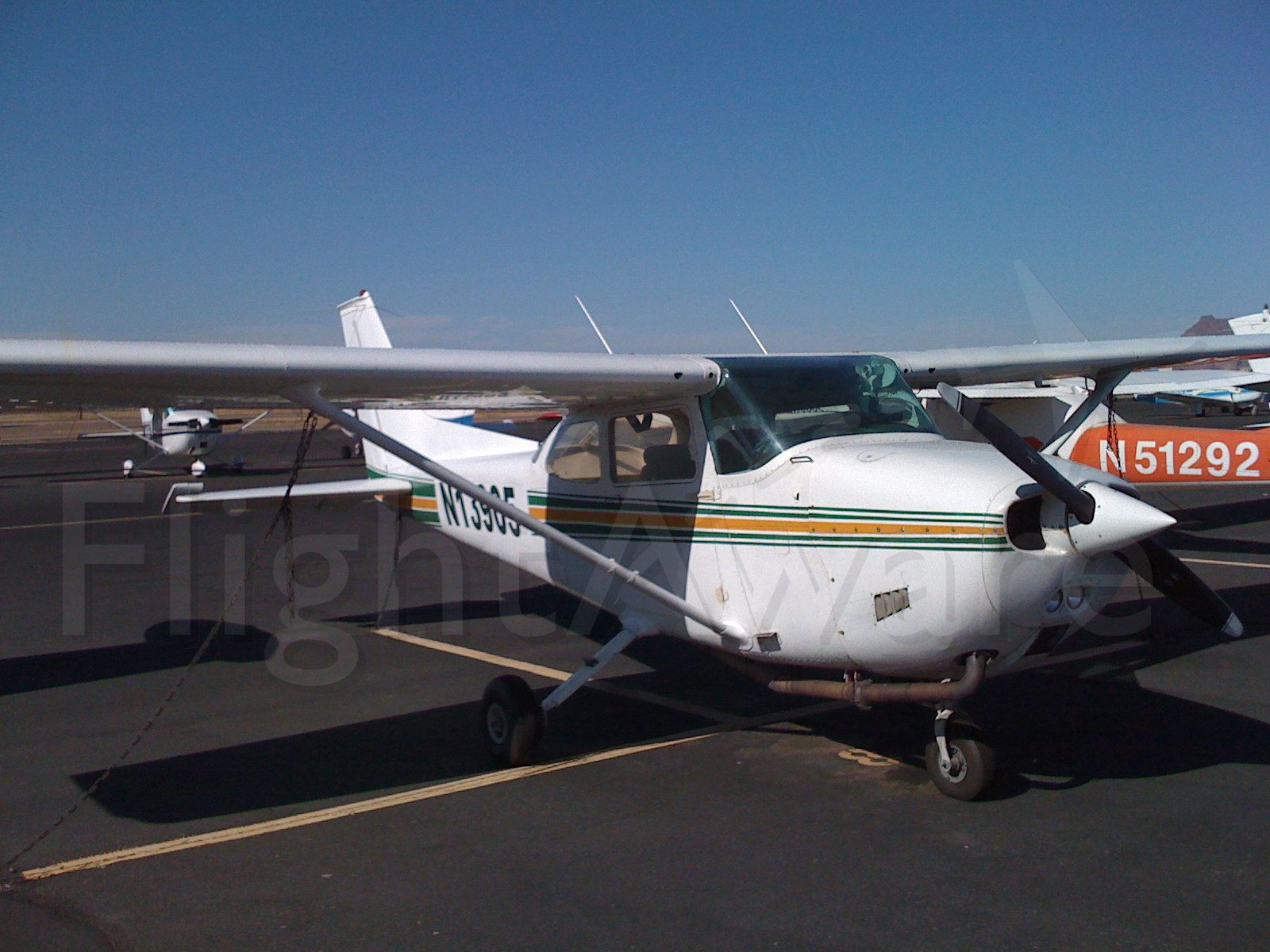 Cessna Skyhawk (N13905) - Cessna 172 modified for aerial mapping photography.