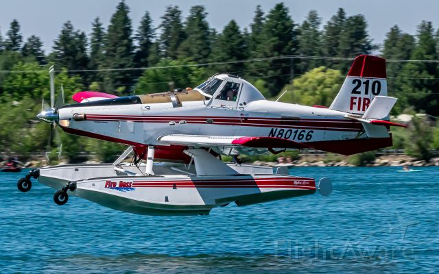 AIR TRACTOR Fire Boss (N80166) - Fireboss 210 going for a dip at Silver Lake; fighting Andrus Fire