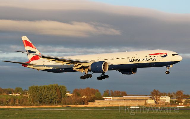 BOEING 777-300 (G-STBB) - british airways b777-300er g-stbb landing at shannon this evening for wifi fitting 4/5/18.