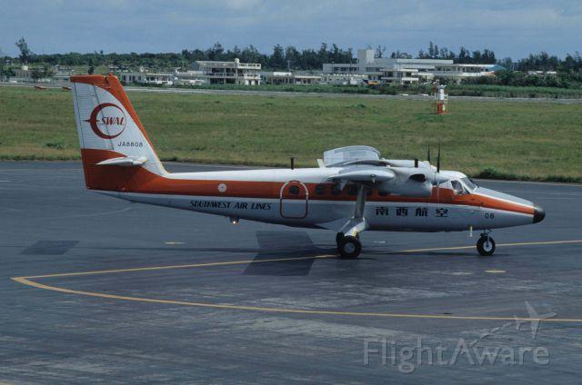 JA8808 — - Taxing at Okinawa Miyako Airport on 1992/02/08
