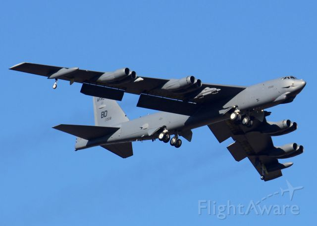 Boeing B-52 Stratofortress (61-0008) - At Barksdale Air Force Base.