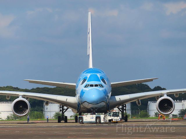 Airbus A380-800 (JA381A) - I took this picture on Jul 20, 2021.