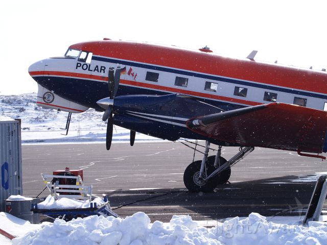 Douglas DC-3 (turbine) (C-GAWI) - The Alfred Wegener Institute for Polar and Marine research, on the Iqaluit tarmac.
