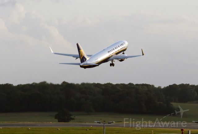 Boeing 737-800 (EI-DHR) - Early evening departure RYR3472 to RZE, photographed from multi-storey car park