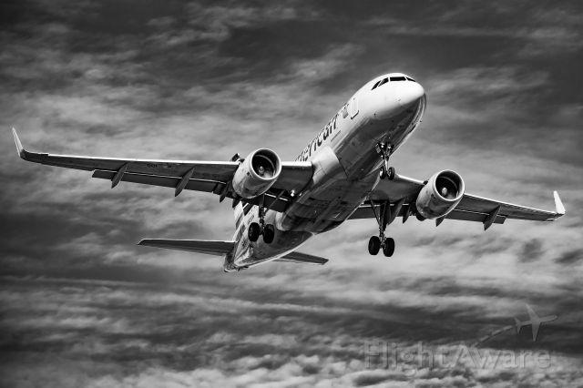 Airbus A319 (N8001N) - N8001N arriving DFW 17C from JAC