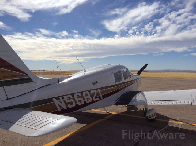 Piper Cherokee (N56821) - Stopping for fuel at Canyon City, New Mexico, near Carlsbad Caverns.