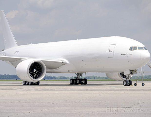 Boeing 777-200 (N772CK) - Kalitta's first 777F arriving at Willow Run after a 14 Hour flight from Dubai. Ex Emirates Cargo bird. 6/18/2019