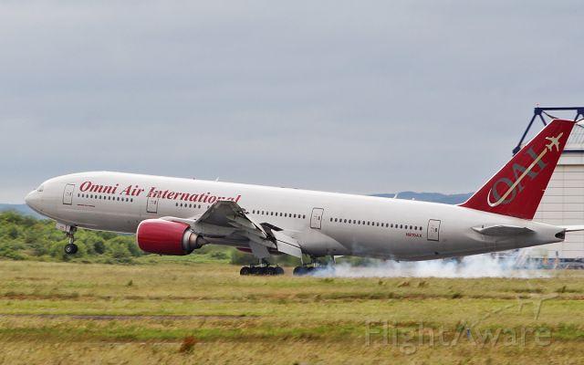 Boeing 777-200 (N819AX) - omni b777-2u8er n819ax landing at shannon 19/6/18.