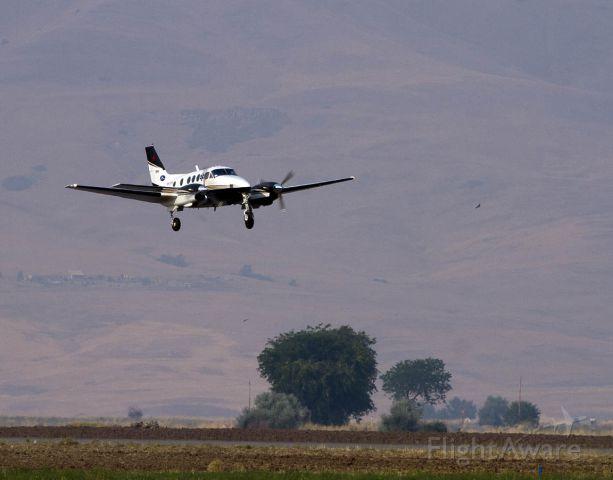 Beechcraft King Air 90 (N117MF) - Siskiyou County Airport Mercy Flights departs with patient.