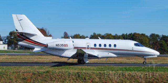 Cessna Citation Sovereign (N535QS) - A Cessna Citation Latitude at GMU.  11/27/20.