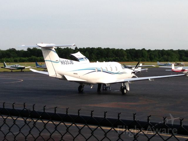 N920JB — - This is Jimmy Buffett's Pilatus on the ramp at 1B9. He flew to Mansfield, Ma for his concert at the Comcast Center. He also had a professional pilot in the right seat. June 2013
