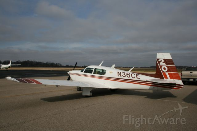 Mooney M-20 (N36CE) - Cloudy day in West Memphis