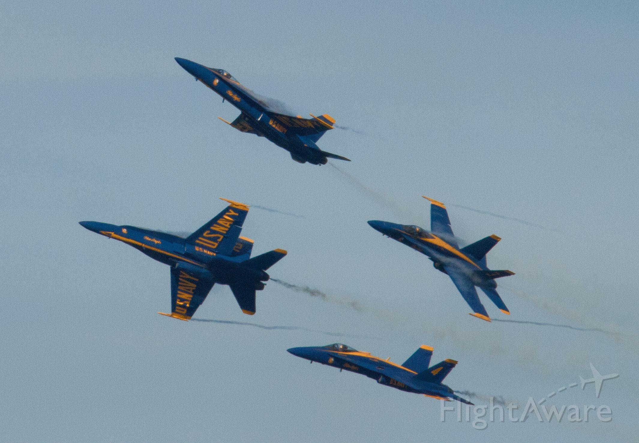 — — - Blue Angels at San Francisco Fleet Week Airshow 2010