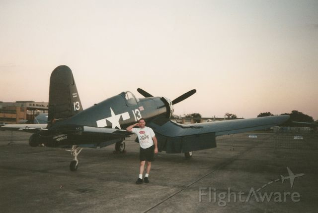 — — - Thats me leaning on the Corsair at the Navy Base. We