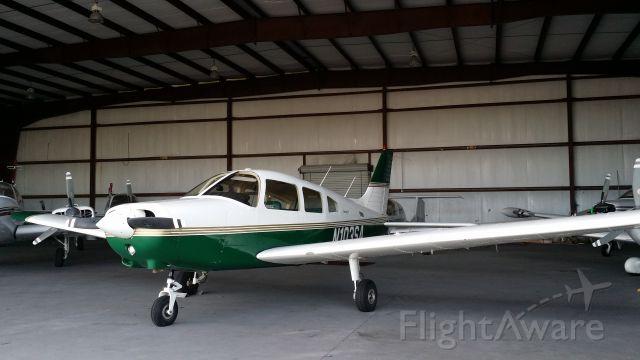 Piper Cherokee (N103SA) - N103SA resting in the hangar.