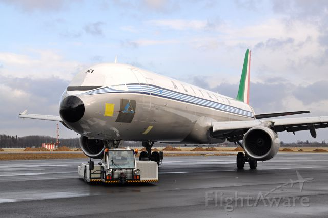 """Airbus A321 (EI-IXI) - Historical Alitalia livery called """"Pentagramma"""", used till the 60s. The work on new paint has not finished yet. Ostrava, March 30th, 2012."""