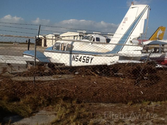 Piper Apache (N5458Y) - Freeport grandbahama  after storm  sandy