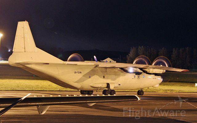Antonov An-12 (UR-CKM) - cavok air an-12bp ur-ckm dep shannon this morning 3/10/18.