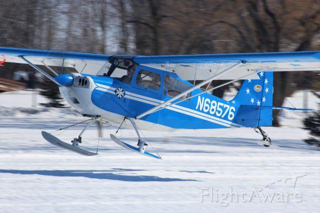 N68576 — - Landing on a beautiful calm Saturday morning EAA Oshkosh Ski Plane Fly-In 2020