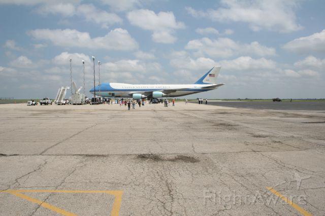 Boeing 747-200 (N28000) - AIR FORCE ONE AT NEW CENTURY AIR PARK, OLATHE KS.