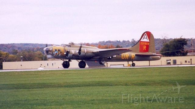 Boeing B-17 Flying Fortress — - Saw these aircraft as thy were preparing to leave Westminster, Md after a weekend airshow. Date was in the mid to late