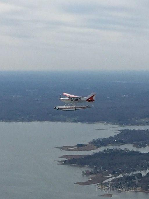 MAULE MT-7-260 Super Rocket (N309MA) - Maule Seaplane over the Chesapeake Bay. Photo taken from Mooney N231G