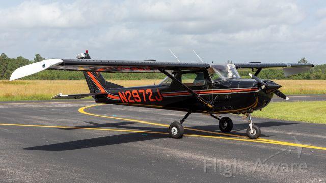 Cessna Commuter (N2972J) - A black & red Cessna 150 is a rare find.