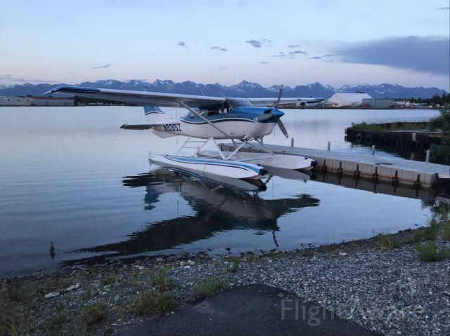 Cessna 206 Stationair (N8065Z) - Cessna 206 on Aerocets at Anchorage Lake Hood.
