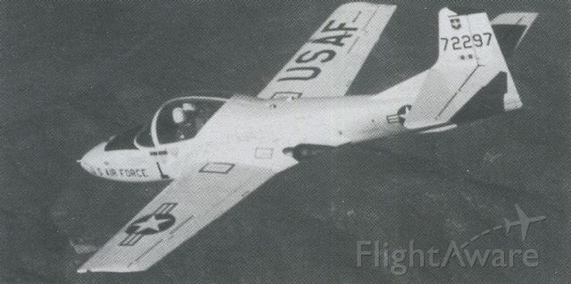 Cessna 318C (57-2297) - scanned from postcard