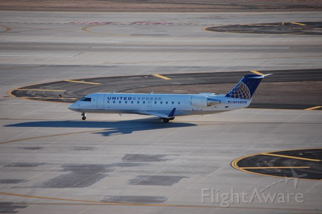 Canadair Regional Jet CRJ-200 (N938SW) - One of the few new color CRJ-200's painted taxiing to the runway in Phoenix off to Los Angeles