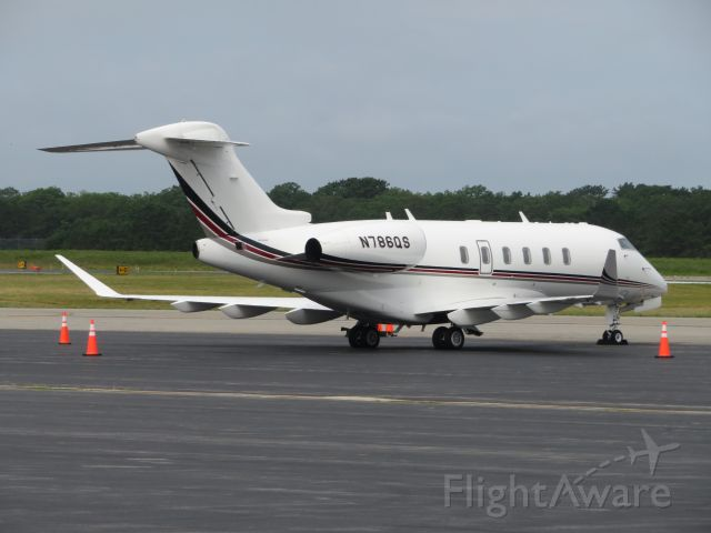 Bombardier Challenger 300 (N786QS) - This NetJets Challenger 300 sits on the ramp before departing to Jackson Hole, Wyoming.