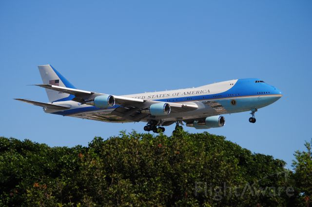 N28000 — - This VC-25A arrives as Air Force 1 on 6/6/12 in late afternoon!