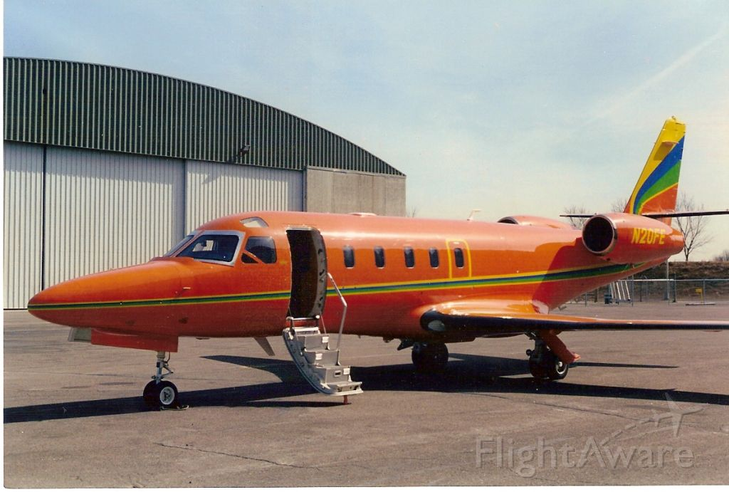 N20FE — - IAI 1125 Astra jet at Minneapolis MN in 1994, I used to fly this plane.