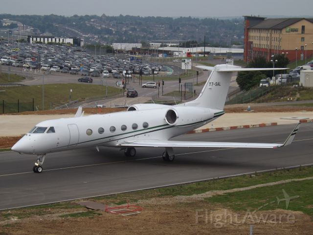 T7-SAL — - Taxing out from Luton Airport.