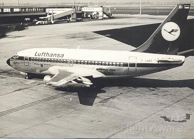 Boeing 737-100 (D-ABEI) - Lufthansa B737-130 at Amsterdam Schiphol (jr 1975)