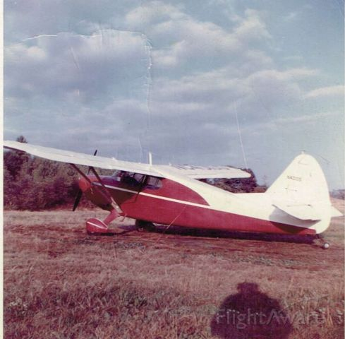 N40105 — - Picture taken 1959.  Belonged then to my uncle Houlten Hanway in Fairmont, WV.  As a teen then I flew a lot with him in this plane.  It was partially aluminized when he got it and later fully aluminized.  The Franklin 335 engine was rebuilt by a firm around Cleveland, OH.  Four seater with nice upholstery like a car and even ash trays.  Don't know if it's still flying.
