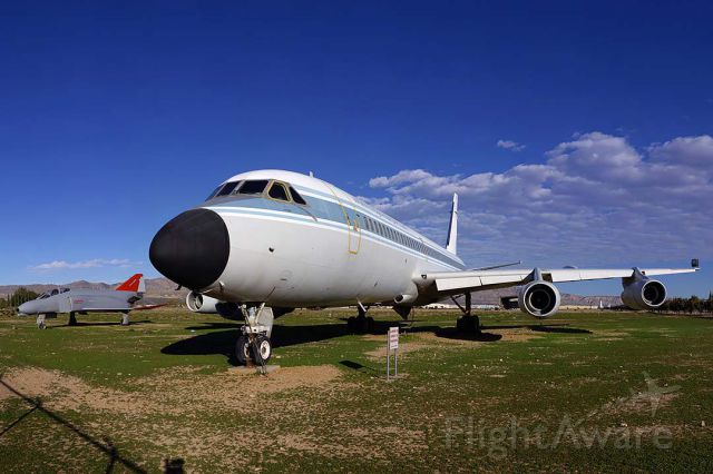 N810NA — - Convair 990 N810NA NASA Landing Systems Research Aircraft is displayed adjacent to the main entrance to the Mojave Airport.