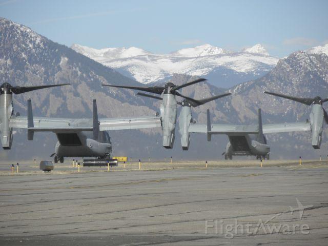 — — - Osprey taxiing at KBJC