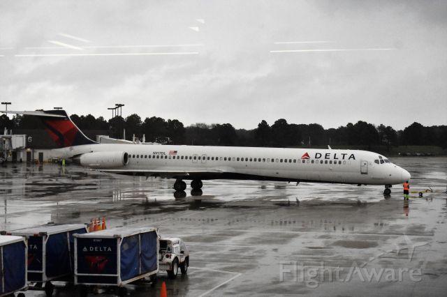 McDonnell Douglas MD-88 (N917DL) - After push back before departure to Atlanta. Taken 3/30/18