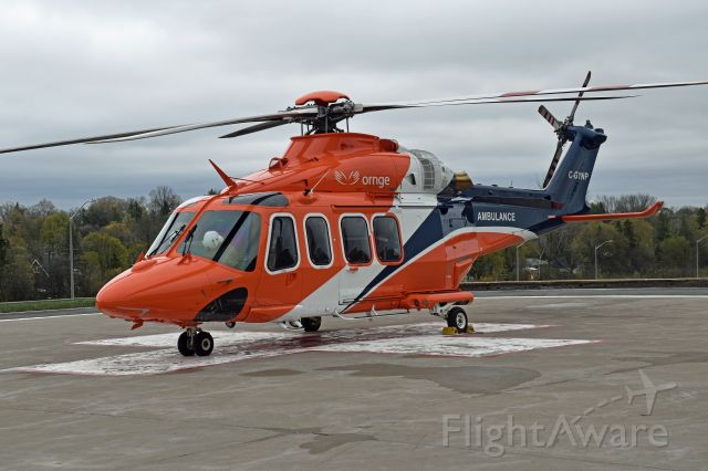 BELL-AGUSTA AB-139 (C-GYNP) - 2010 Agusta AW-139 (C-GYNF/41226) just arrived and is sporting the new 2021 ORNGE Livery (April 30, 2021)