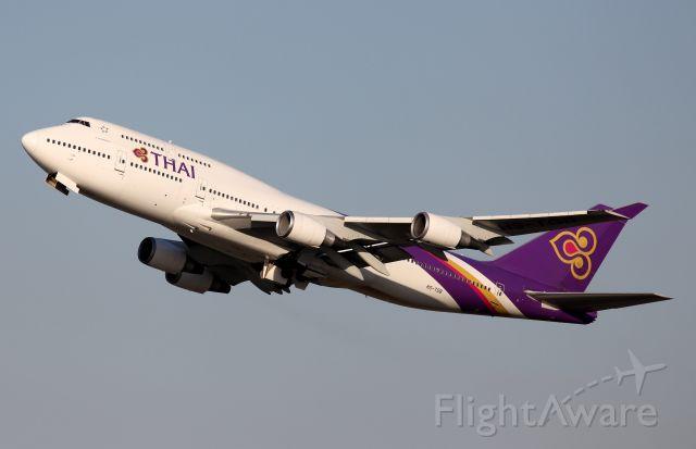 Boeing 747-400 (HS-TGB) - Climbing From Rwy 34L