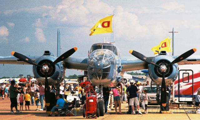 """North American TB-25 Mitchell (N333RW) - Showing as a Navy PB-1J, """"Special Delivery"""" - North American B-25J, N333RW, at Barksdale AFB Airshow in 2005."""