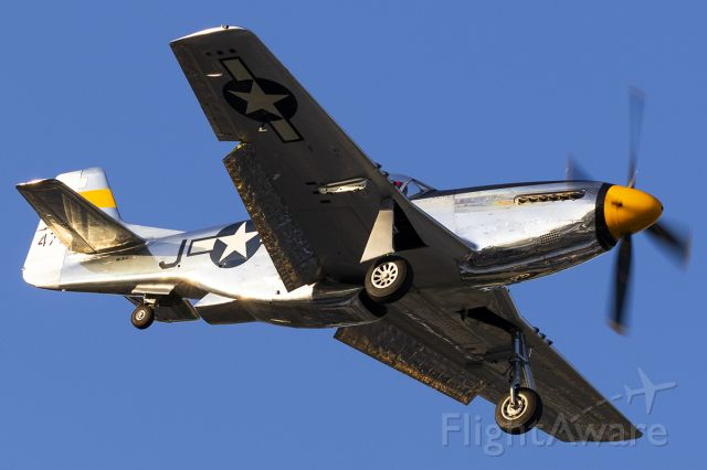 North American P-51 Mustang (NL51JC) - Performing at Addison's Kaboom Town.