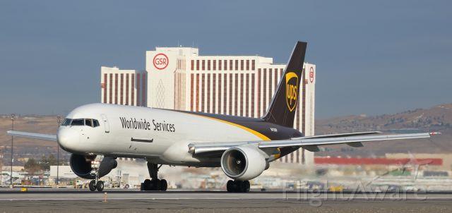 Boeing 757-200 (N418UP) - Throttles fully firewalled, UPS