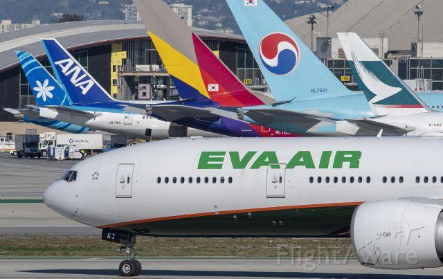 BOEING 777-300ER (ZK-OKT) - Leased from Eva