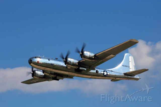 Boeing B-29 Superfortress (N69972) - Doc with a low approach along Runway 36 during War Bird Air Show.........