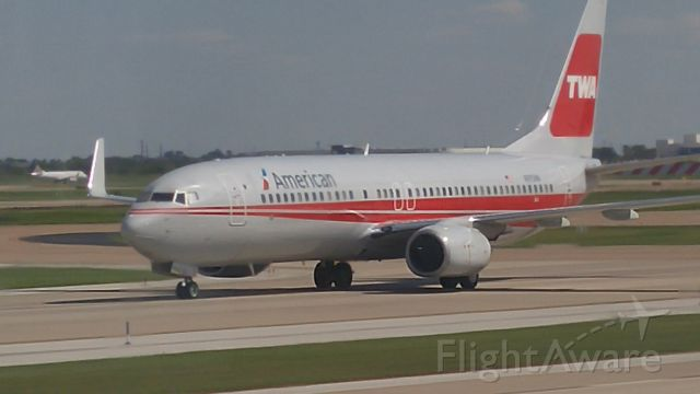 Boeing 737-700 — - American Airlines, TWA Livery, taken at KDFW, from an E concourse window.