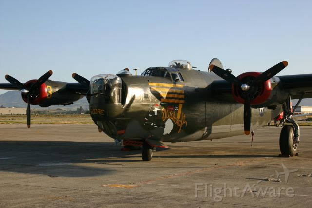 """4444052 — - KCVH - """"Witchcraft"""" B-24J of the Collings Foundation at Hollister June 8th, 2005."""